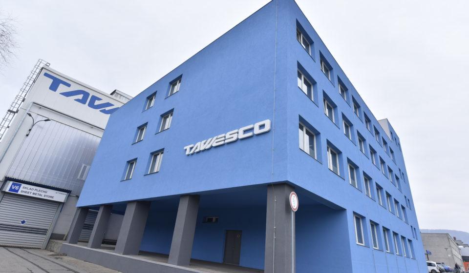 Novostavba haly 414/1 a kryté plochy pro expedici výrobků společnosti TAWESCO